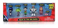 Teen Titans Go Action Figure 6 Pack Robin Raven Cyborg Beast Starfire Silkie New