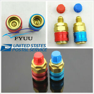 Pair Car A/C R134a High Low Side Quick Coupler SAE Fitting Adapter
