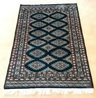 BOKHARA, Oriental Rug, Hand Knotted Wool, Deep Green, 4' by 6', NWOT