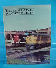 MAINLINE MODELER MAGAZINE AUGUST/SEPTEMBER 1982 UP TANK CAR, NKP 4-6-0, AND MORE