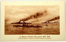 Cartolina Marina - L'Armata Navale Italiana In Crociera Scortata Da Siluranti -