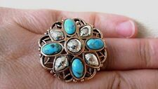 Turquoise Sterling Silver Copper New Barse Ring,  MSRP is $125
