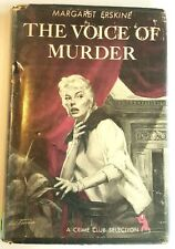 THE VOICE OF MURDER HB 1st FIRST edition DJ Margaret Erskine Mystery Crime Club