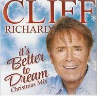CLIFF RICHARD - ITS BETTER TO DREAM CHRISTMAS MIX -  PROMO CD MINT&PRESS SHEET