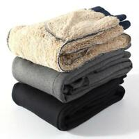 Mens Winter Thicken Sherpa Warm Fleece lined Casual Sport Pants Joggers Trousers