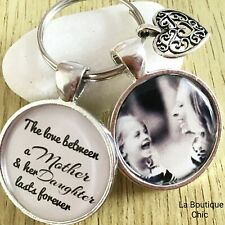 Mother & Daughter Personalised Photo Keyring Gift Birthday Mothers Day keepsake