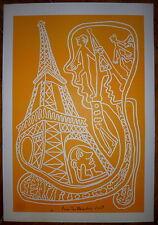 Yvon Taillandier sérigraphie signée art brut figuration libre salon de mai