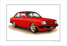 HOLDEN  GEMINI  TG   SEDAN    LIMITED EDITION CAR PRINT AUTOMOTIVE ARTWORK