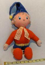 Vintage Noddy Felt Cloth Stuffed Doll - Pedigree Rubber Head Enid Blyton England