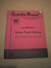 International Harvester McCormick Spring Tooth Harrow Operators Manual Part List
