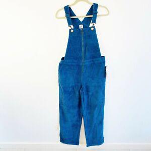 Element BNWT Casual Clash Women's Blue Cord Overalls Jumpsuit Size 12 RRP $110