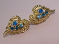 Jewelcraft rare vintage 1950s clip-on 'angel-wing' earrings