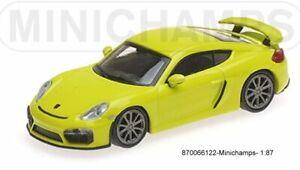 Minichamps 870066122- Porsche Cayman GT4 –2016 – Green - 1:87