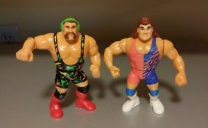 WWF Hasbro Real Wrestling Action STEINER BROTHERS Series 9 Purple Card 1993