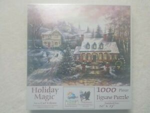 Sunsout Holiday Magic Art by Carl Valente - 1000 Piece Puzzle - Christmas 17729