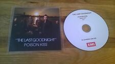 CD Pop Last Goodnight - Poison Kiss (1 Song) Promo EMI MUSIC