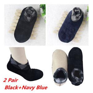 Men Thicken Winter Warm Socks Non Slip Indoor Floor Soft Casual Slipper Hosiery