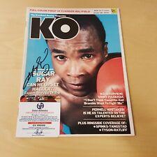 KO Magazine January 1987 Original Autograph COA Sugar Ray Leonard Boxer