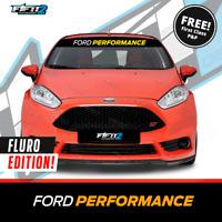 Ford Fiesta Ford Performance FLURO GREEN EDITION Sunstrip Decal Sun Strip