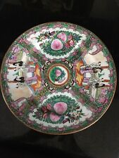 "Large Japanese Porcelain Gold Imari Handpainted PINK GREEN Plate 10"" NEAR MINT"