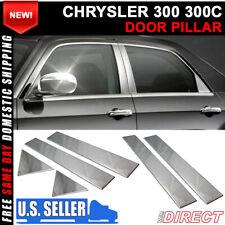 Fits 05 10 Chrysler 300 300c Chrome Door Pillar 6 Pcs Post Trim Fits Chrysler 300
