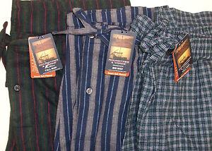 Roundtree & Yorke Plaid Striped  Douro Soft Portuguese Flannel Pajamas Pants NWT