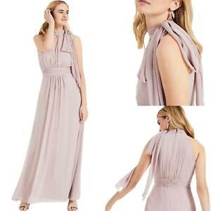 New Phase Eight Keziah Misty Mauve Occasion Bridesmaid Maxi Dress RRP £150 6-20