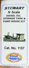Stewart N Scale #1107 Diesel Oil Storage Tank & Pump House Kit (White Metal)