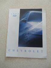 1993 Chevrolet Cavalier Beretta Corsica Caprice advertising booklet - USA