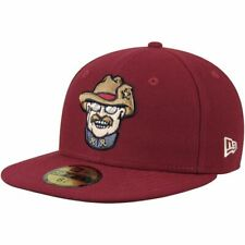 Frisco RoughRiders New Era Authentic Home 59FIFTY Fitted Hat Crimson Teddy 7 1/2