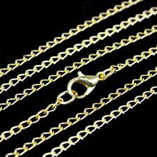 Halskette 80 cm Metall Kette Metallkette 3 mm gold -farbig necklace chain