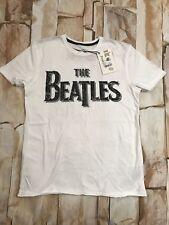 Camiseta Blanca BEATLES Oficial Hombre Chico los Beatles Amplificado BNWT