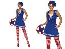 Sailor Cutie Costume Ladies Navy Sailors Fancy Dress Outfit Sizes 8-18