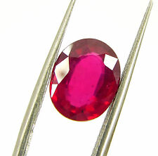 3.20 Ct Certified Beautiful Natural Ruby Loose Oval Gemstone Stone - 118065