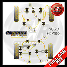Volvo S40 (04 on) Late Models, 12mm Wishbone Bolt Powerflex Black Full Bush Kit