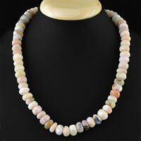 450.00 CTS NATURAL RICH PINK AUSTRALIAN OPAL UNTREATED ROUND BEADS NECKLACE