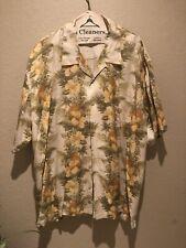 Tommy Bahama Hawaiian Aloha Silk Camp Shirt Hibiscus Flower