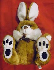 Plüschtier Hase , Rewe , 38 cm x 27 cm x 18 cm , hellbraun weiß ,