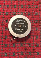 Vintage Lufkin 8 ft Pocket Tape Measure Rare 16th & 10th!