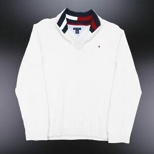 TOMMY HILFIGER  White American 1/4 Zip Jumper Boys L