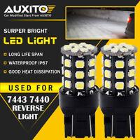 2X Backup Reverse Light 7443 7440 White 33SMD Car LED Bulbs 7444 7441 T20 12-24v