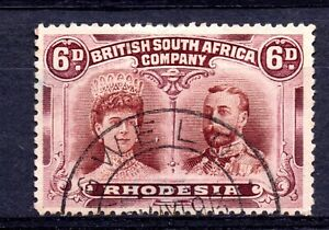 Rhodesia (6983) 1910 King George V / Queen Mary Double Heads 1x6d