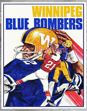 Vintage CFL Winnipeg Blue Bombers Color Poster Print 8 X 10 Photo Picture