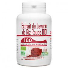 Levure de Riz Rouge Bio 1,6% 600mg -180 gélules