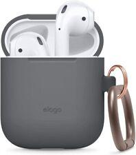 AirPods Case - elago® Silicone Case with Keychain [Dark Grey]