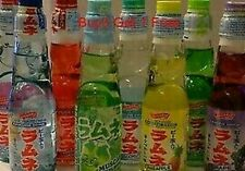 6uni.x Ramune Limonade Strawberry Melon Ananas Litschi Japanisch Japan Selbst