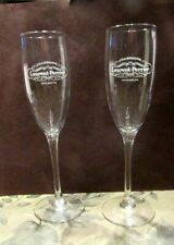 """PAIR OF LAURENT-PERRIER CHAMPAGNE FLUTED GLASSES  8.75"""" TALL"""