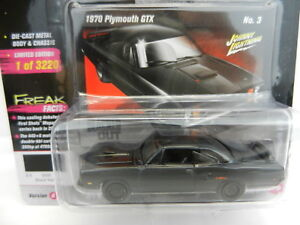 2018 Johnny Lightning STREET FREAKS 2A BLACKED OUT Gloss Black 1970 Plymouth GTX