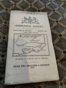 Antique Ordnance Survey Map Of Chelmsford and Southend