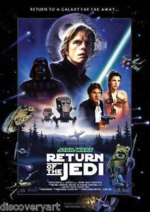 Star Wars Return of The Jedi 1983 Movie Poster Canvas Wall Art Print Sci-Fi Leia